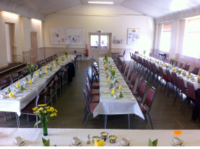 Selston Parish Hall long tables